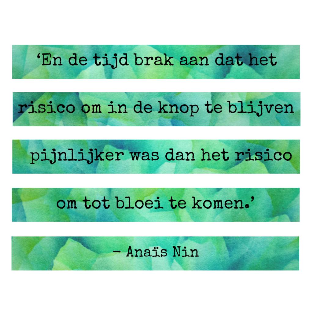 Anaïs Nin - Beeldende therapie Utrecht - Kunstzinnig Gezond - Sanne Driessen